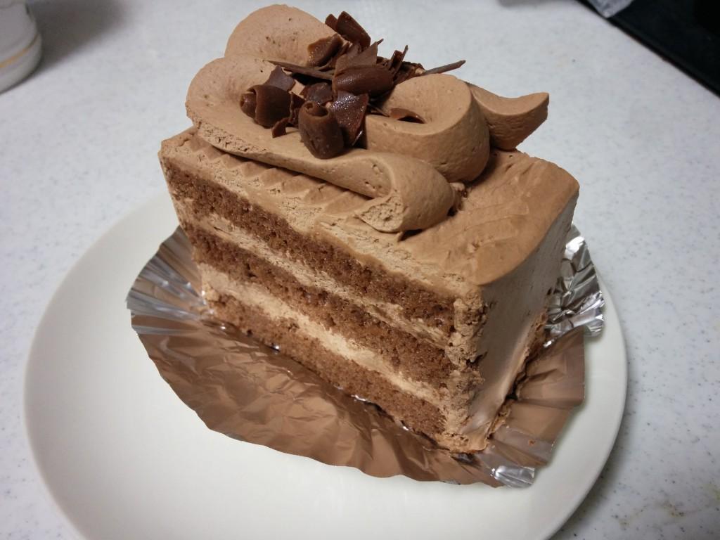 マイルドなミルクチョコレートケーキ